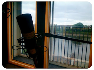microphone, river thames, hammersmith, riverside studios, london, 
