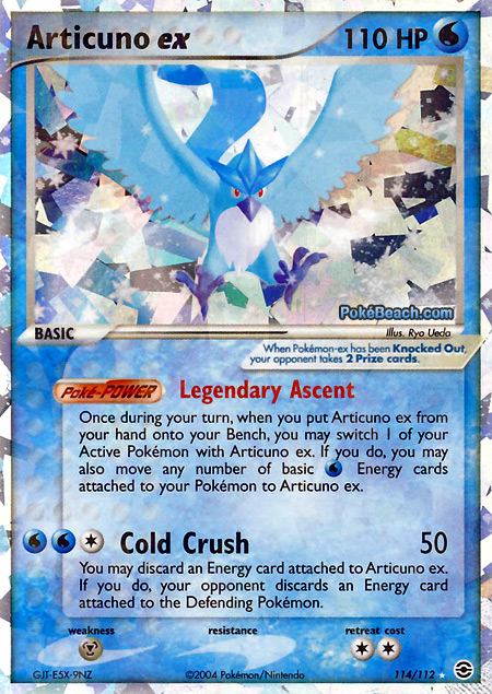 Articuno ex     EX FireRed and LeafGreen Pokemon Card ReviewArticuno Ex Pokemon Card