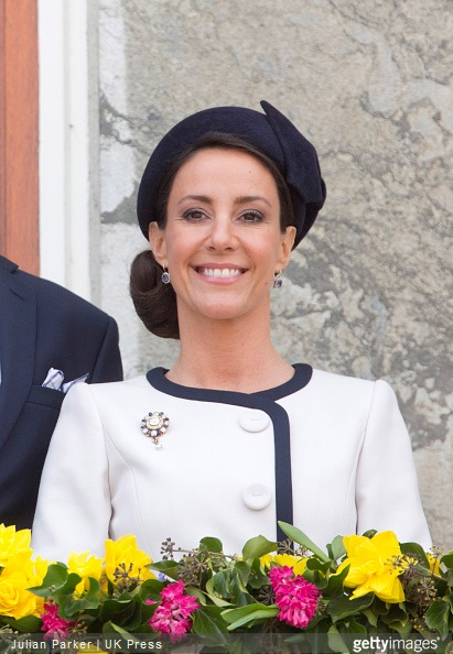 Princess Marie of Denmark, attends a Lunch reception to mark the forthcoming 75th Birthday of Queen Margrethe II of Denmark. at Aarhus City Hall.