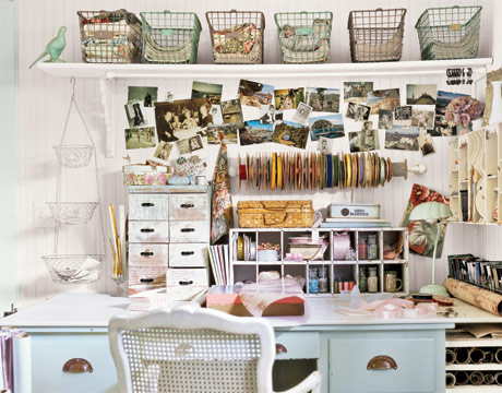 Ahndea may home office spaces - Art desk with storage organization ...