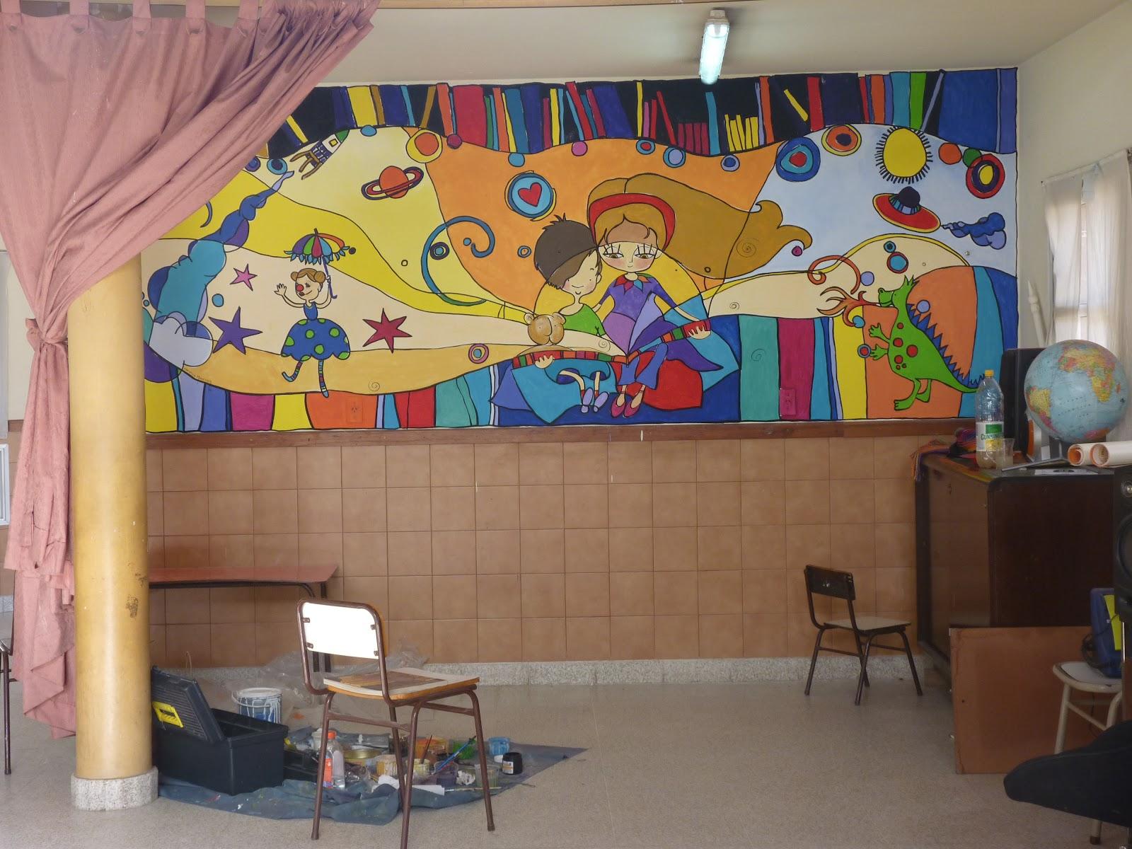 Murales mural en jard n de infantes en el olimpo for Jardines de olimpo