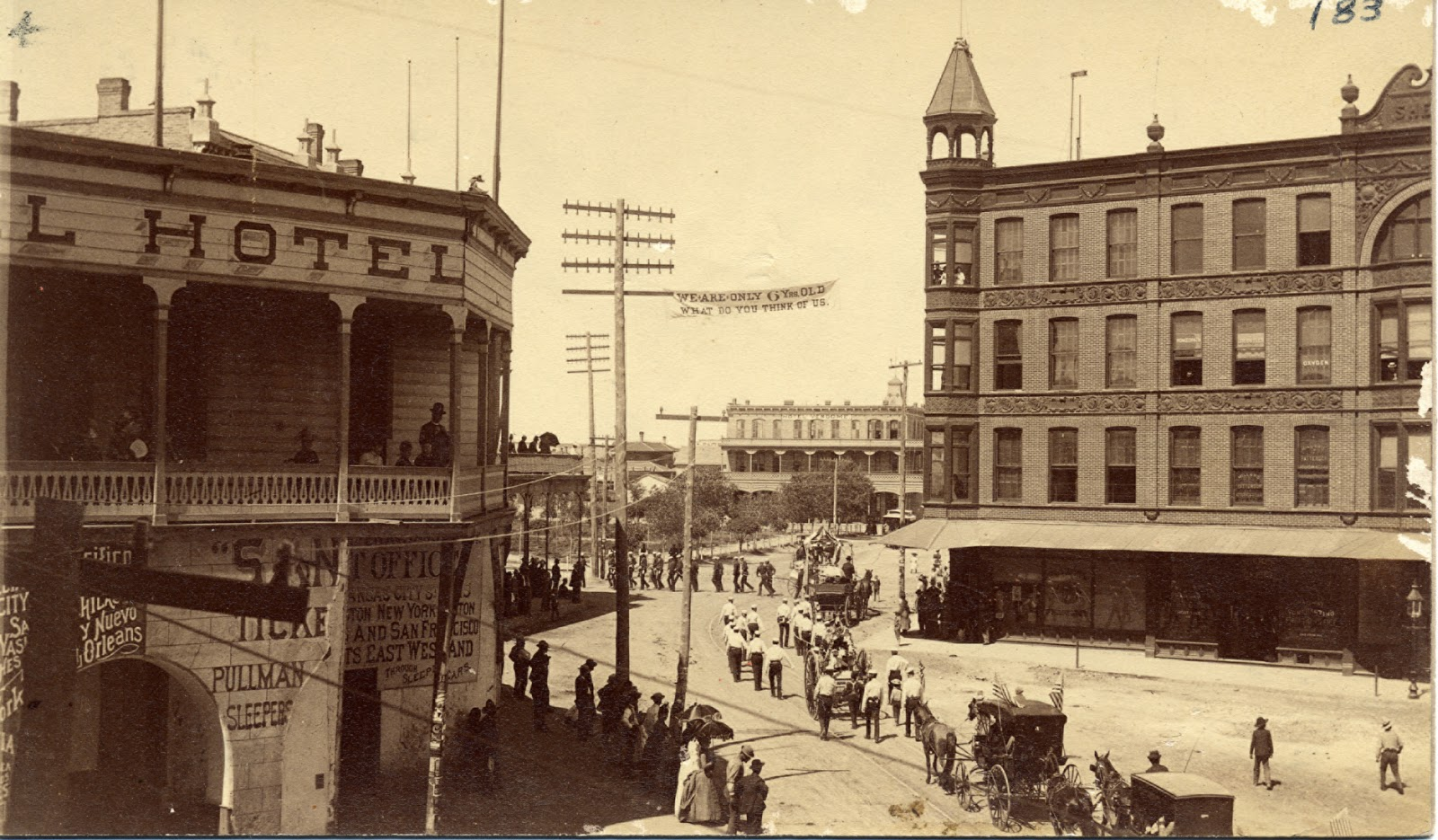 El paso plaza in center back around 1890s photo collection of the el