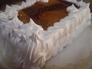 tarta de natillas de chocolate