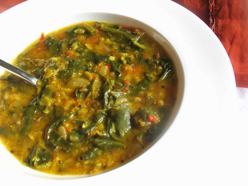 Mixed Dal Palak (Lentils with Spinach and Tomato) | Lisa's Kitchen ...