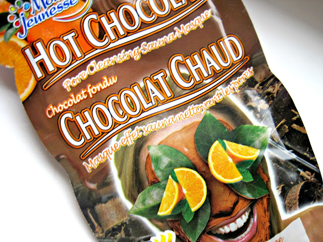 montagne jeunesse hot chocolate orange cocoa heating face mask