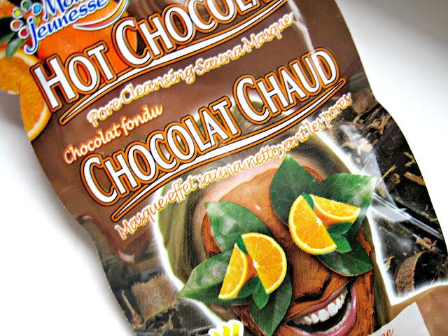 montagne jeunesse hot chocolate orange cocoa heating face mask