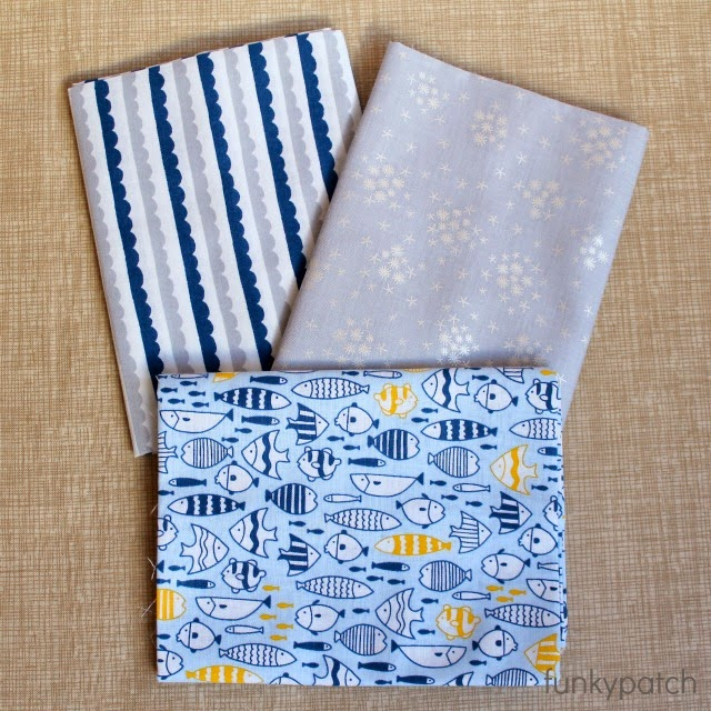 pack 3 fat quarter Snorkeling
