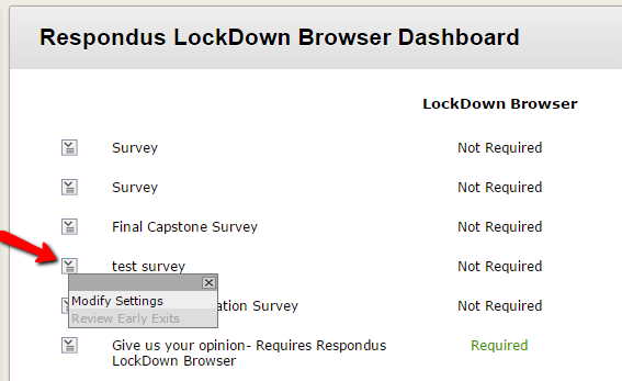 Respondus LockDown Browser: Instructions for Students
