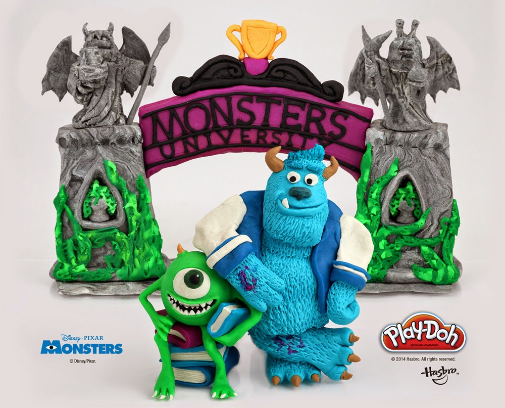 #PlayDohDay back to school creations; Monsters University