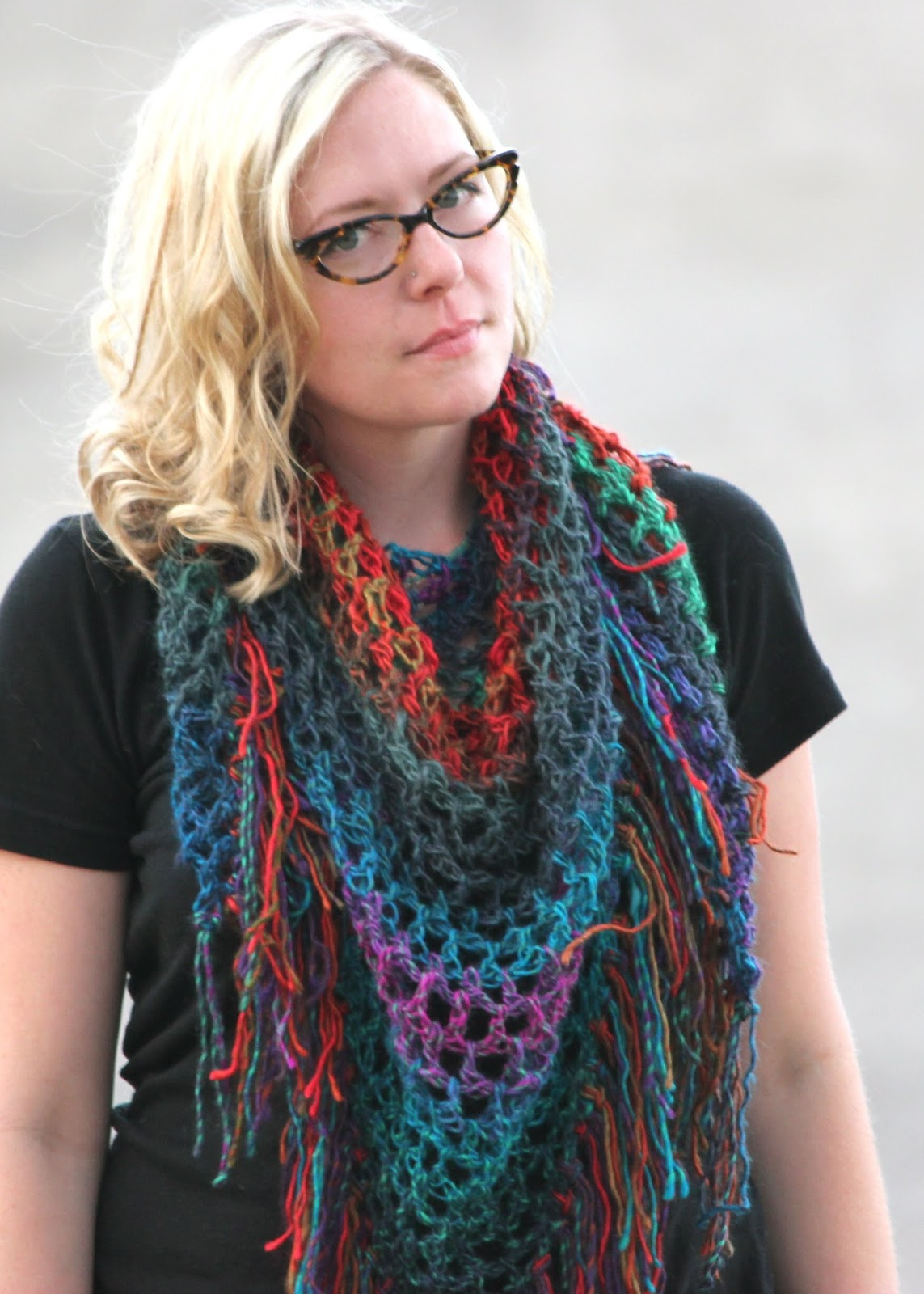 Free Crochet Patterns For Dressy Scarves : Cornflower Blue: Free Crochet Pattern