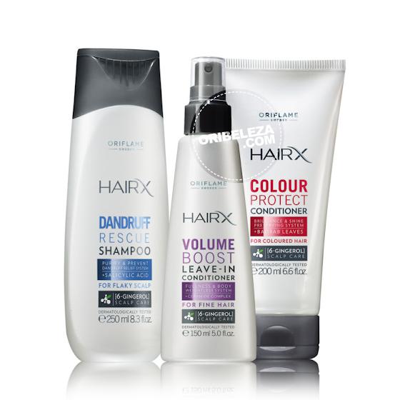 Gama de Cuidados Capilares HairX da Oriflame