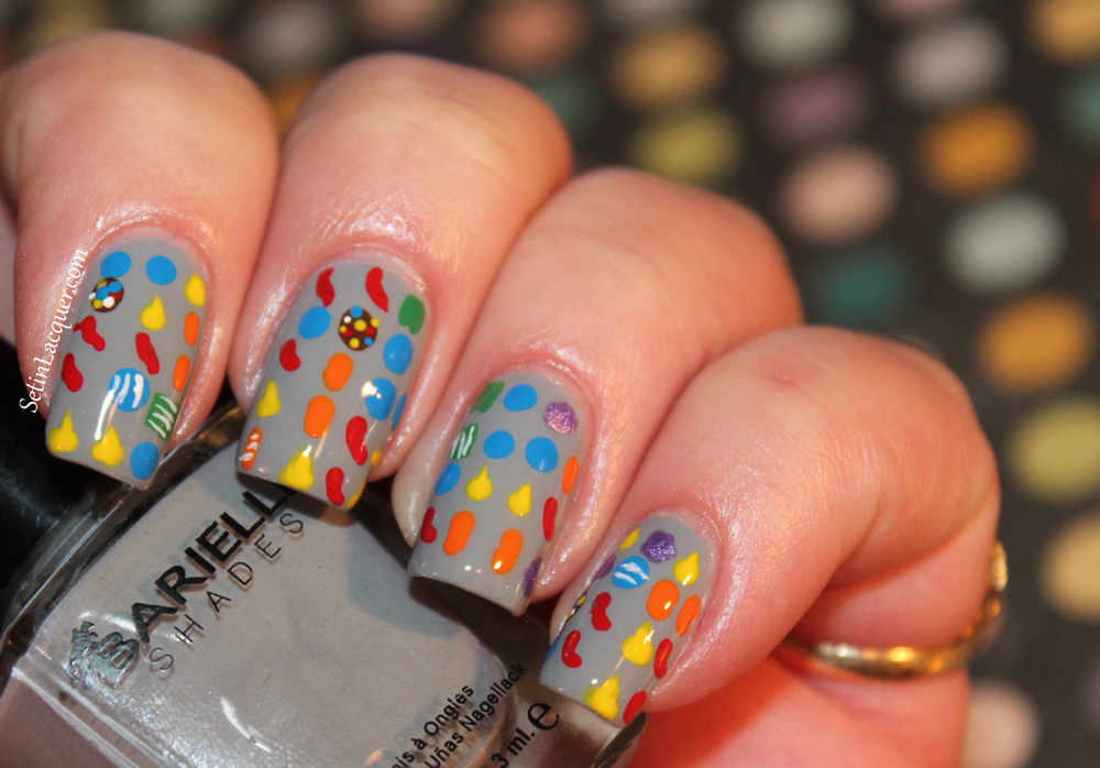 Candy Crush Nail Art