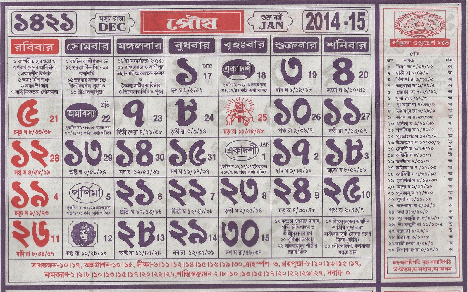"Bengali New Year Calendar : Search results for ""english calendar in india"