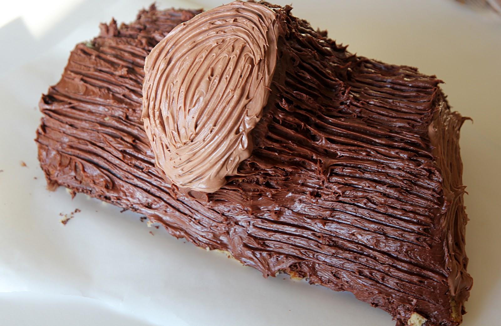 Yule Log Cake.