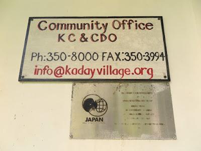 Plaque of the Kaday Village Community Center, Yap.