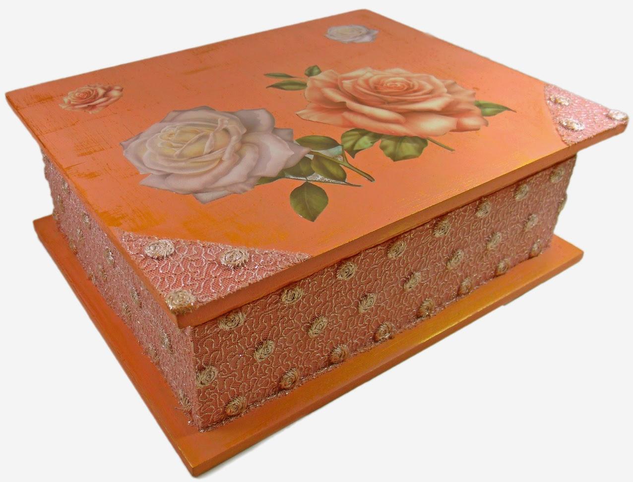 caixa de joias decorada