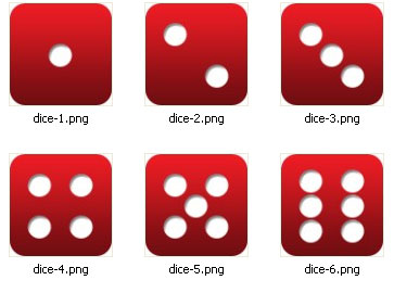 Dice image files having each face in a seperate file
