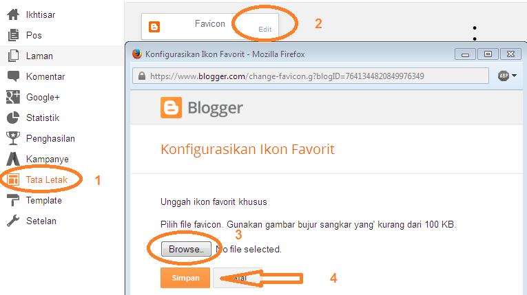 Kegunaan Favicon Blog dan Cara Membuat Favicon Blog Blogspot