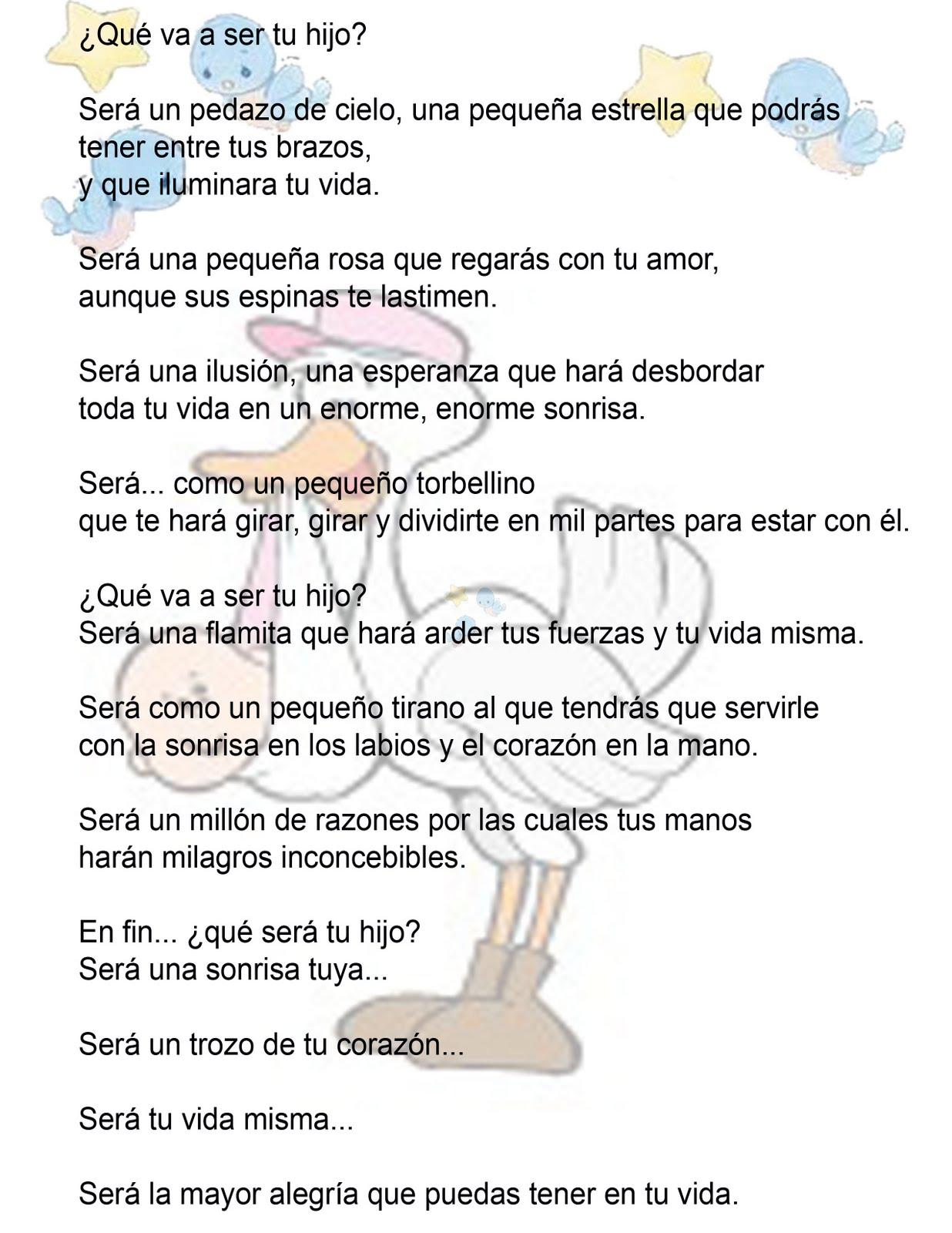 Poemas Para Baby Shower De Nino