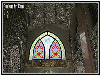 interior masjid kaca patri
