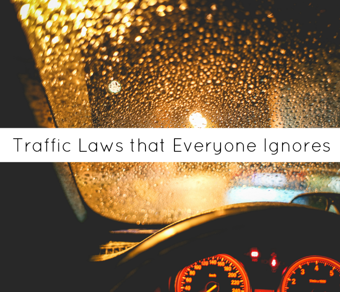 traffic laws everyone ignores