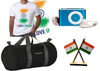 Buy Combo of I Love India Flag T-shirt, Frazzer Duffle Bag, Digital MP3 Player & Car dashboard Indian Flag at Rs.499 : Buytoearn