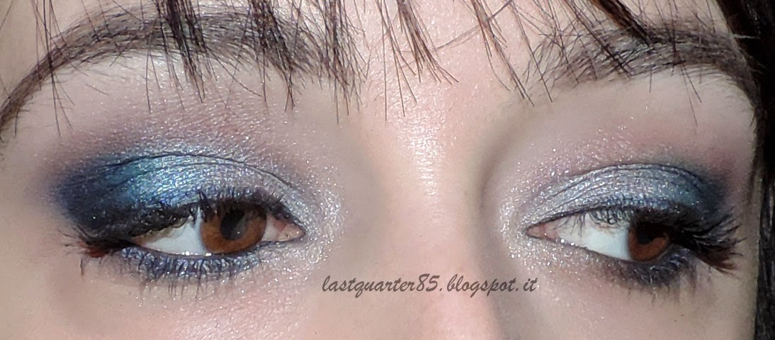 Make up festivo grigio argento e blu!
