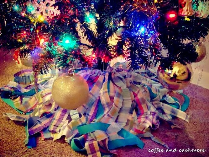 Base para Arbol de Navidad con Tela Reciclada