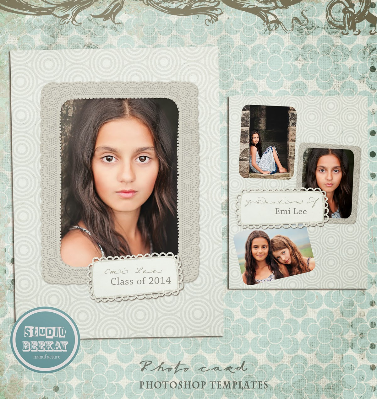 Photoshop Templates for Pro Photographers: Graduation announcement ...