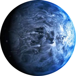 Planet HD 189733b PNG, backgroundless file. NASA, exo-solar planet. Alien blue planet. planet made of silica, glass planet.