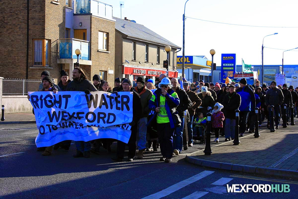 Water protest Wexford