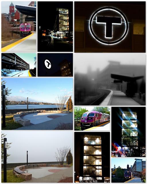Best Photos, 2015, MBTA, Commuter Rail, Station, Salem, Massachusett, trains, parking, garage, fog, night photo, T