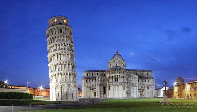 пизанская башня наклон