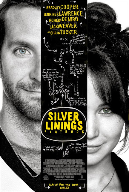 Silver Linings Playbook, Directed by David O. Russell, starring Bradley Cooper, Jennifer Lawrence