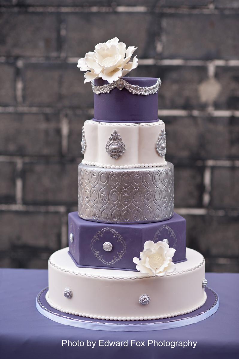 21st Cake Ideas Purple Silver 48310