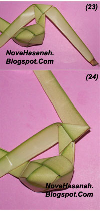 langkah-langkah membuat kerajinan tangan anak berbentuk ayam yang lucu dari bahan alami janur kelapa 5