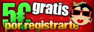 5 euros por registrarte en Bingo Rumba