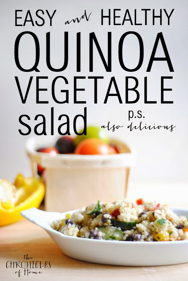 Perfect healthy lunch salad - quinoa and fresh vegetables