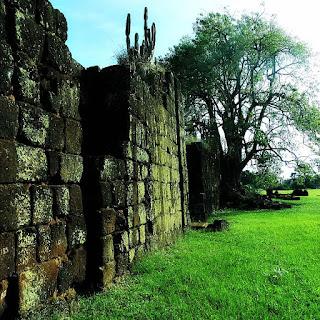 Vegetação junto às ruínas da redução  de São João Batista, em Entre-Ijuís.