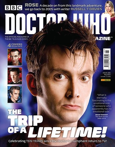 David Tennant on cover of one edition of Doctor Who Magazine #485