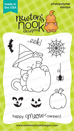 Newton's Perfect Pumpkin! - 3x4 Photopolymer Stamp set | Newton's Nook Designs