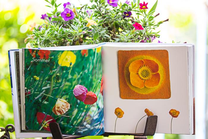 Buchrezension Filzgeschichten. Muscheln, Blumen, Schnecken. Filz in Form gebracht.