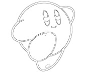 #14 Kirby Coloring Page