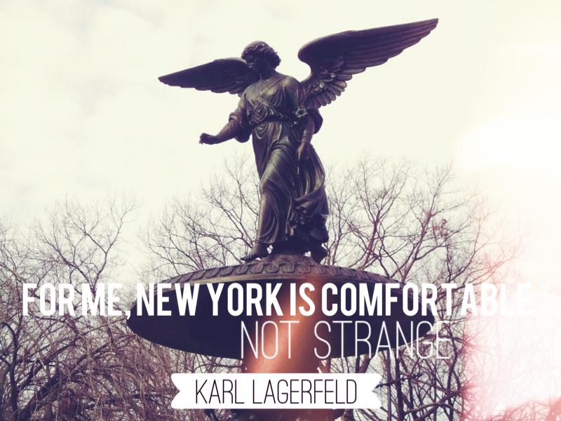 Central Park, New York, Chanel quote
