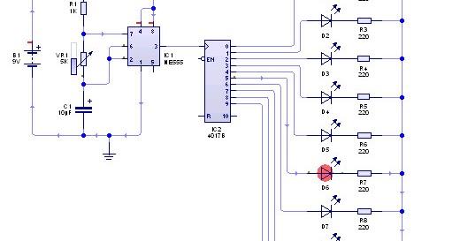Membuat lampu led berjalan running belajar teknik