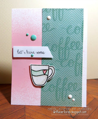 Coffee Card | Create A Smile Stamps | Created by Danielle Pandeline