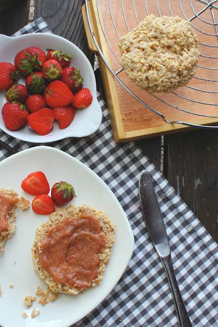 Coconut Milk Scones & Vanilla Rhubarb Compote | happy hearted kitchen