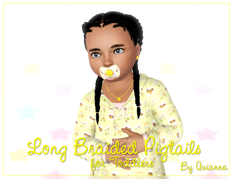 Quianna Long Braided Pigtails For Toddlers