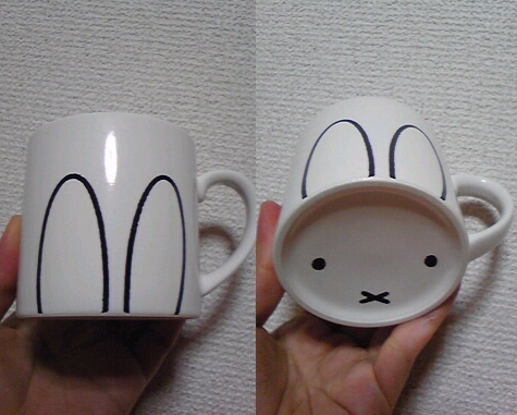 DIY bunny ears mug via Mommo Design