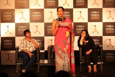 Sonam Kapoor at L'Oreal press conference